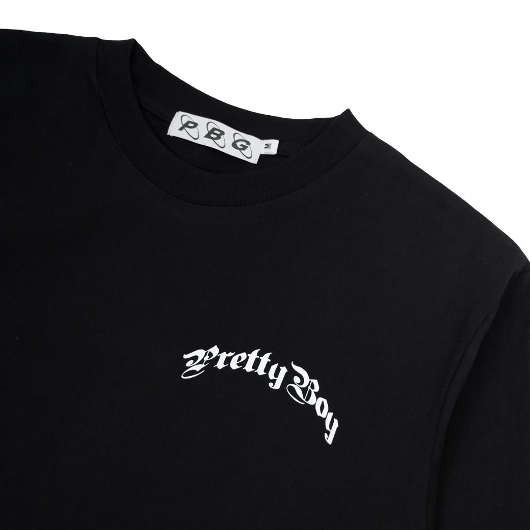 PRETTYBOYGEAR CURVE L/S T-SHIRT BLACK