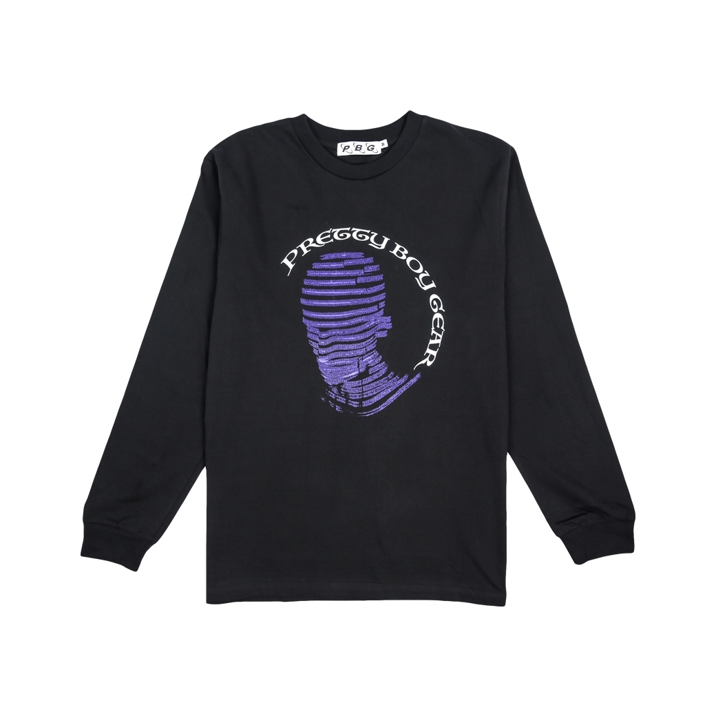 PRETTYBOYGEAR THE PRETTYBOY IS COMING L/S TEE BLACK