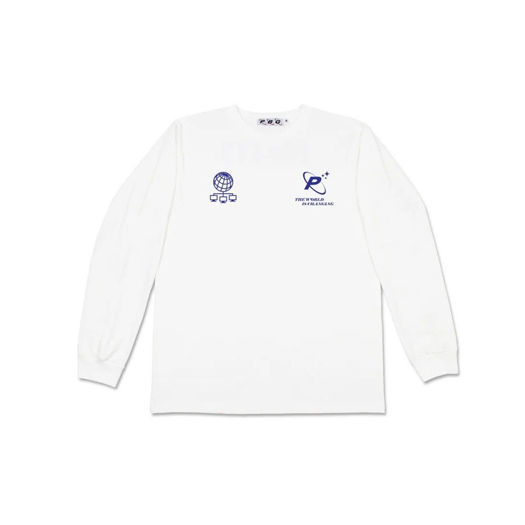 PRETTYBOYGEAR THE WORLD IS CHANGING L/S TEE WHITE