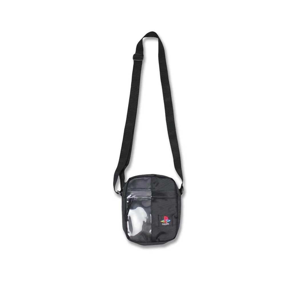 PRETTYBOYGEAR 2-FACE PVC MESSENGER BAG BLACK