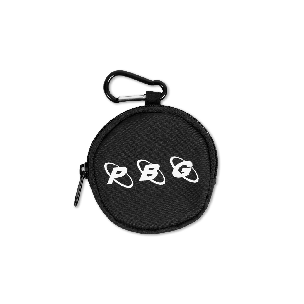 PRETTYBOYGEAR  LOGO COIN BAG BLACK
