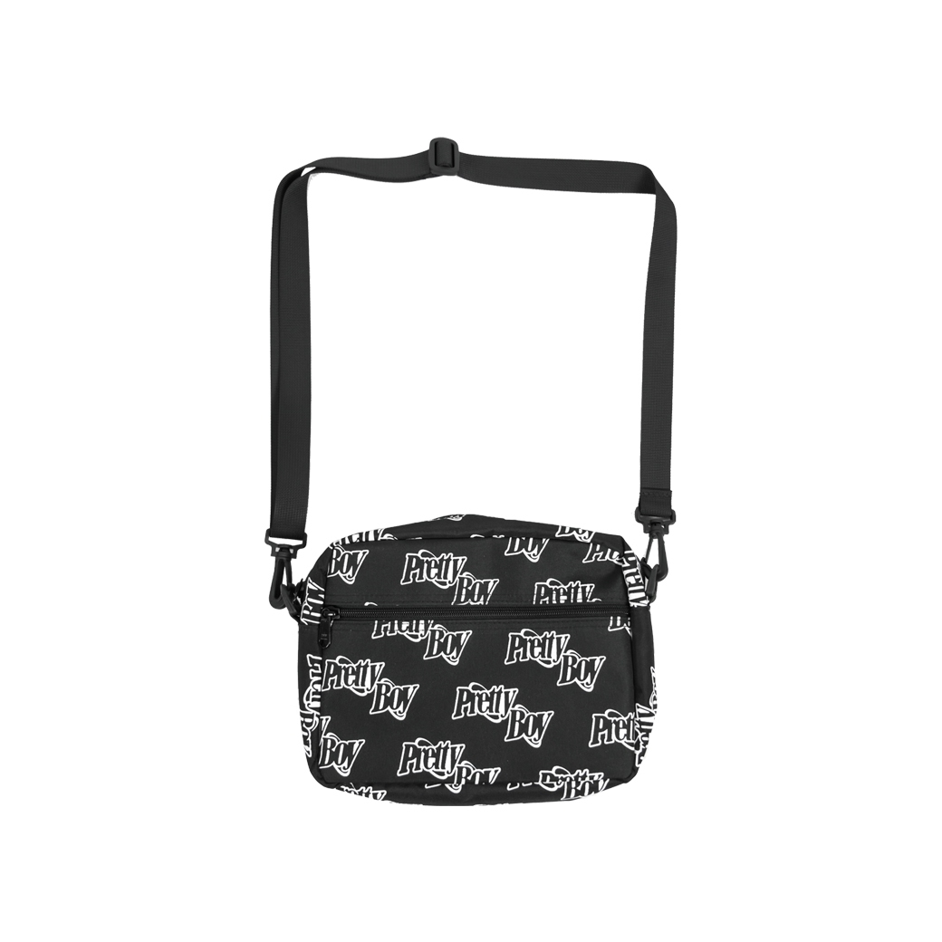 PRETTYBOYGEAR DOUBLE RING MONOGRAM SHOULDER BAG BLACK