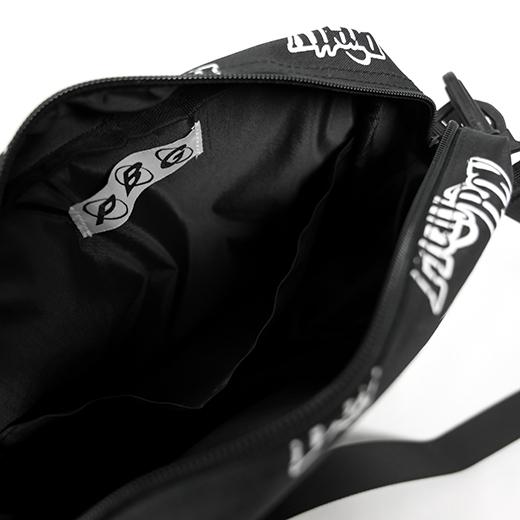 PRETTYBOYGEAR DOUBLE RING MONOGRAM SHOULDER BAG BLACK