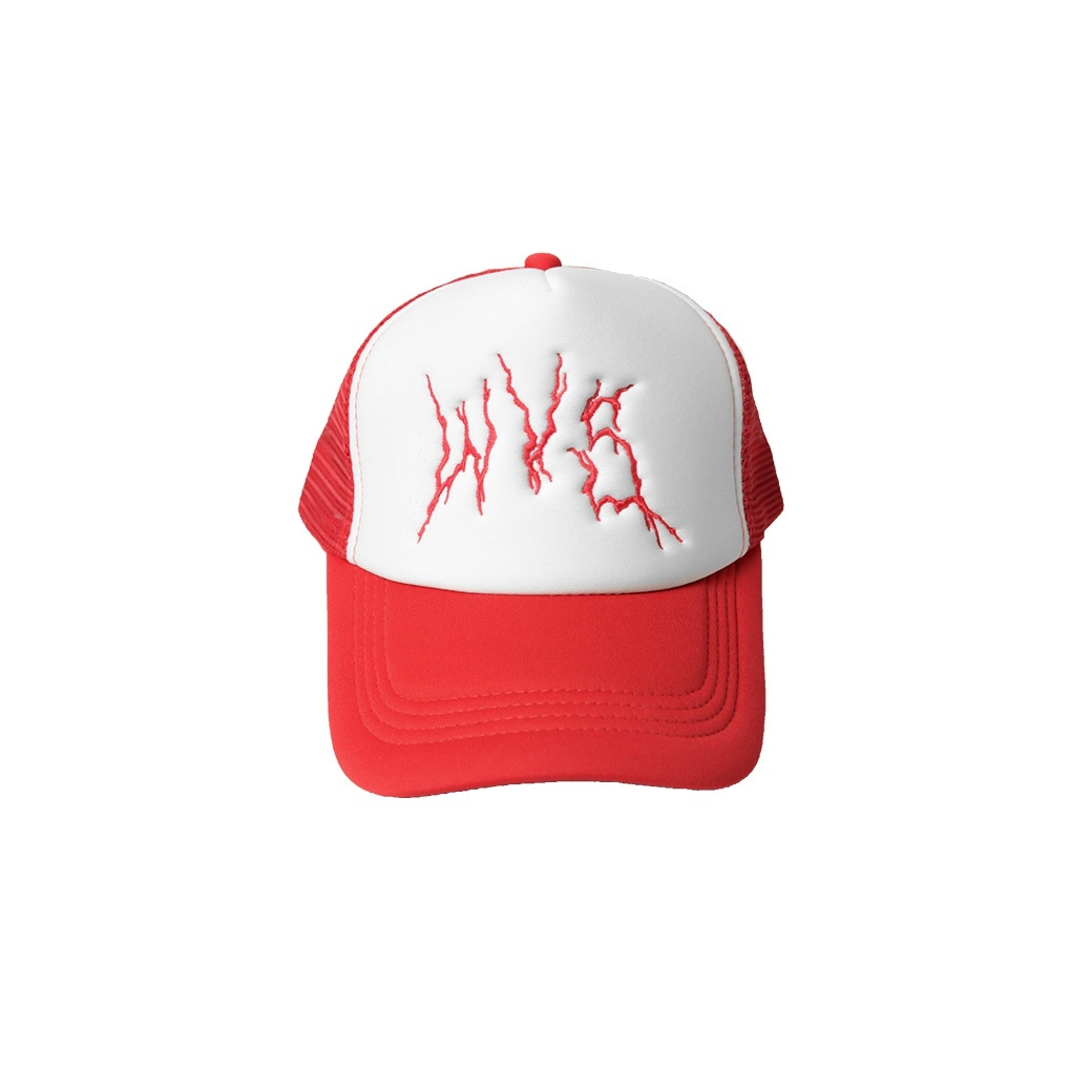 WVS METAL LOGO TRUCKER CAP RED